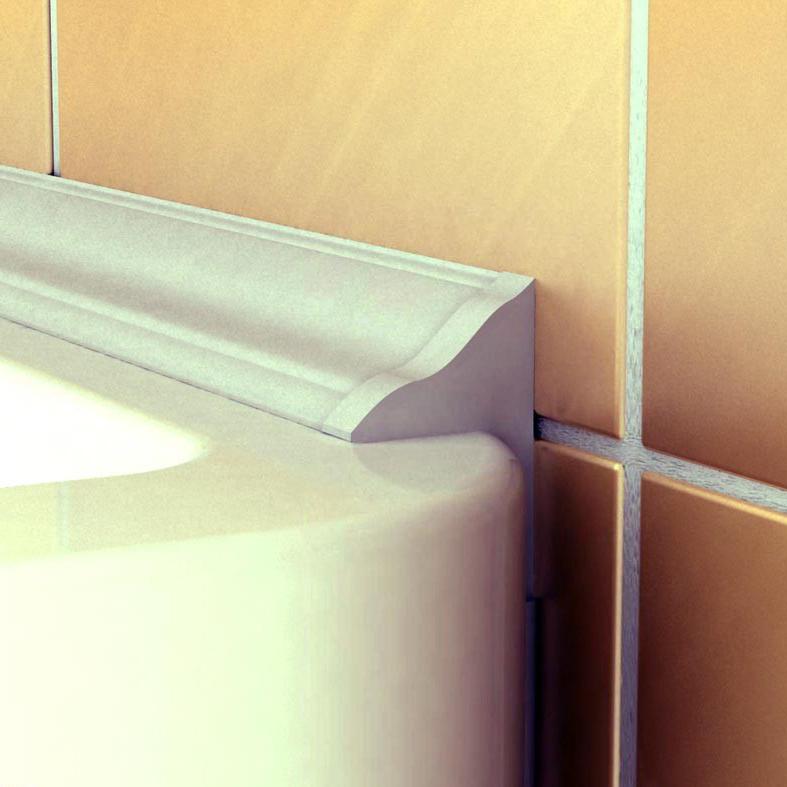 Акриловый плинтус для ванной леруа